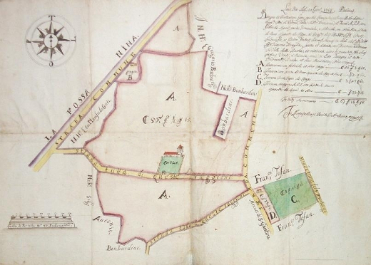 Cartografia XVIII sec. rif. Museo Correr