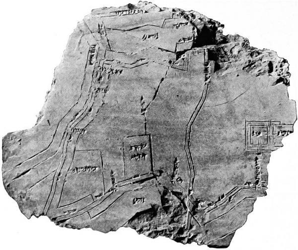 Nippur mappa su tavoletta di argilla 1500 a. C