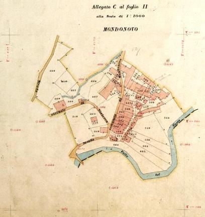 Mappa di impianto catastale fine XIX sec.