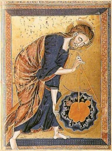 Anonimo - immagine medievale XIV sec.[La misura come ordine del mondo]